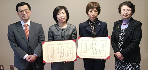 左から西海課長、日髙先生、野中先生、城戸会長